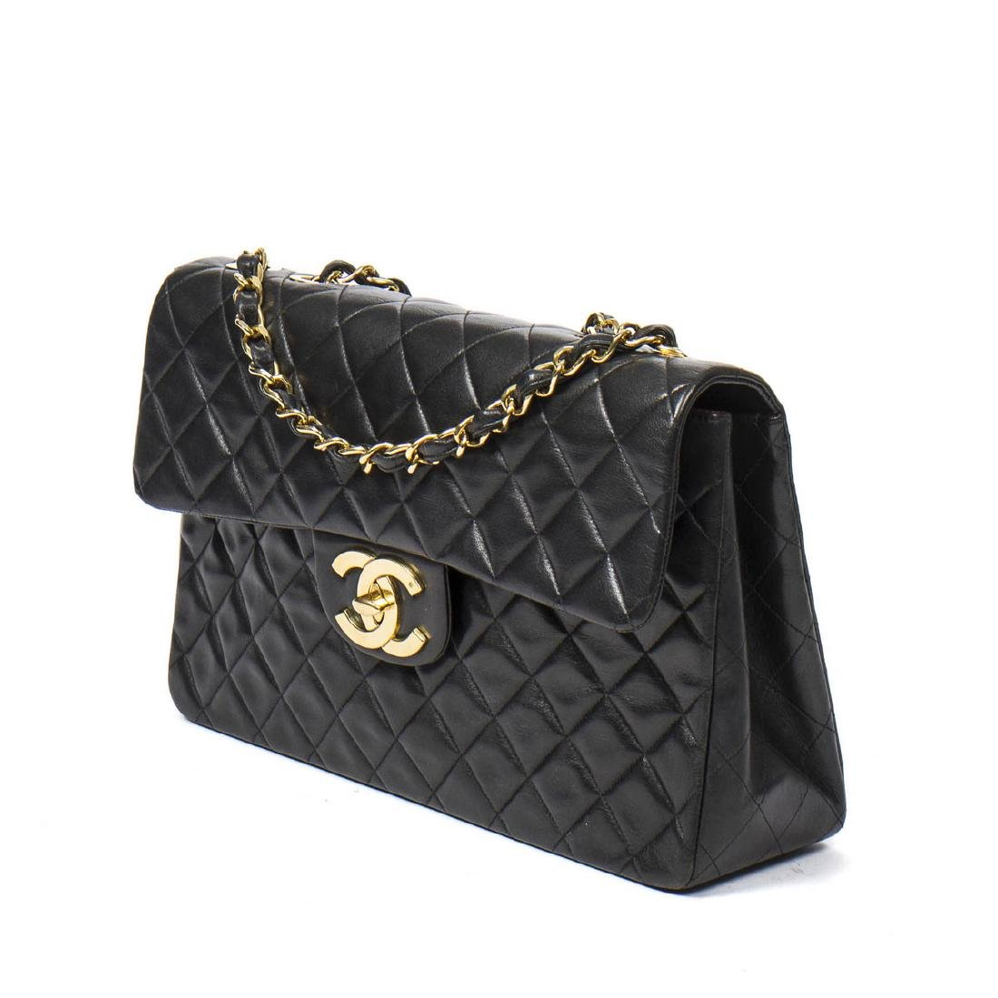 Chanel Maxi Jumbo in Black Quilted Leather - 2