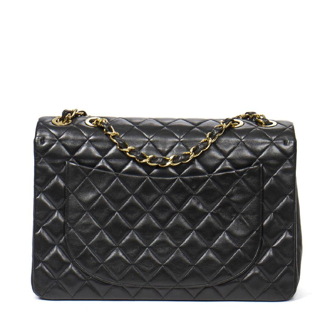 Chanel Maxi Jumbo in Black Quilted Leather - 5