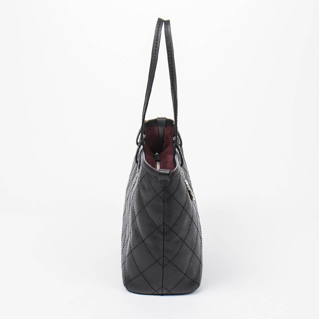 Chanel Shopping Tote MM in Black Quilted Caviar Leather - 4