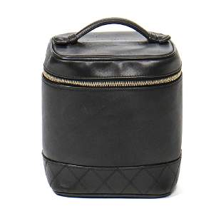 Chanel Cosmetic Case Quilted Base in Black Quilted Base