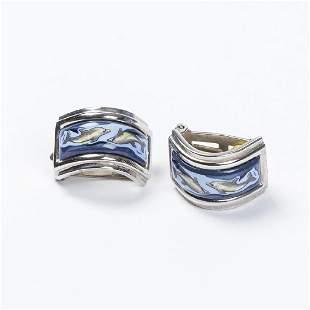 Hermes Dolphin Clip Earrings