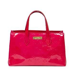 Louis Vuitton Wilshire PM in Pink Monogram Vernis