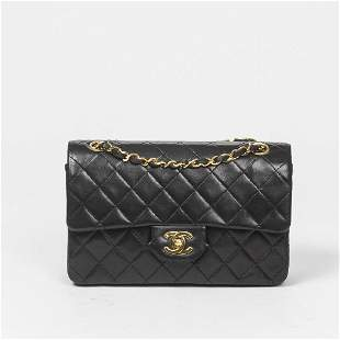 Chanel Classic Double Flap 23cm in Black Quilted