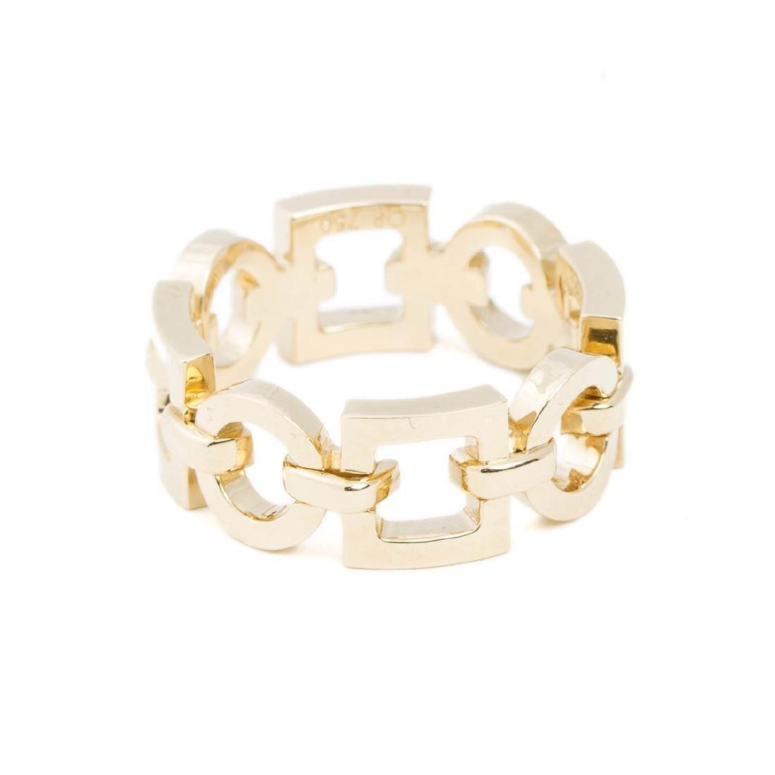 Boucheron Square and Circle Chain Ring - 3