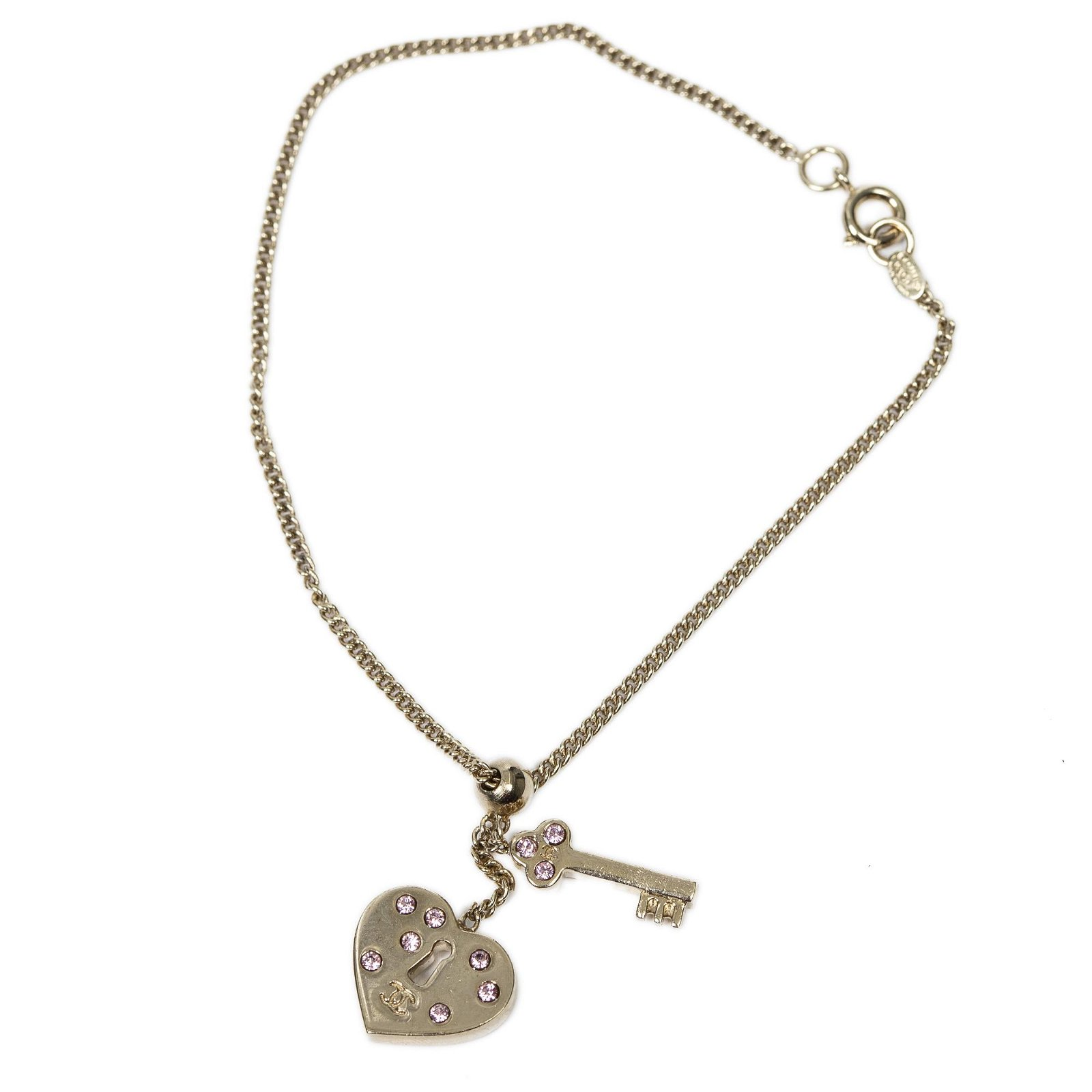 Chanel Stainless Steel without Nickel Heart Key Pendant