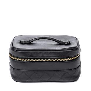 Chanel Calf Leather Rectangular Cosmetic Pouch