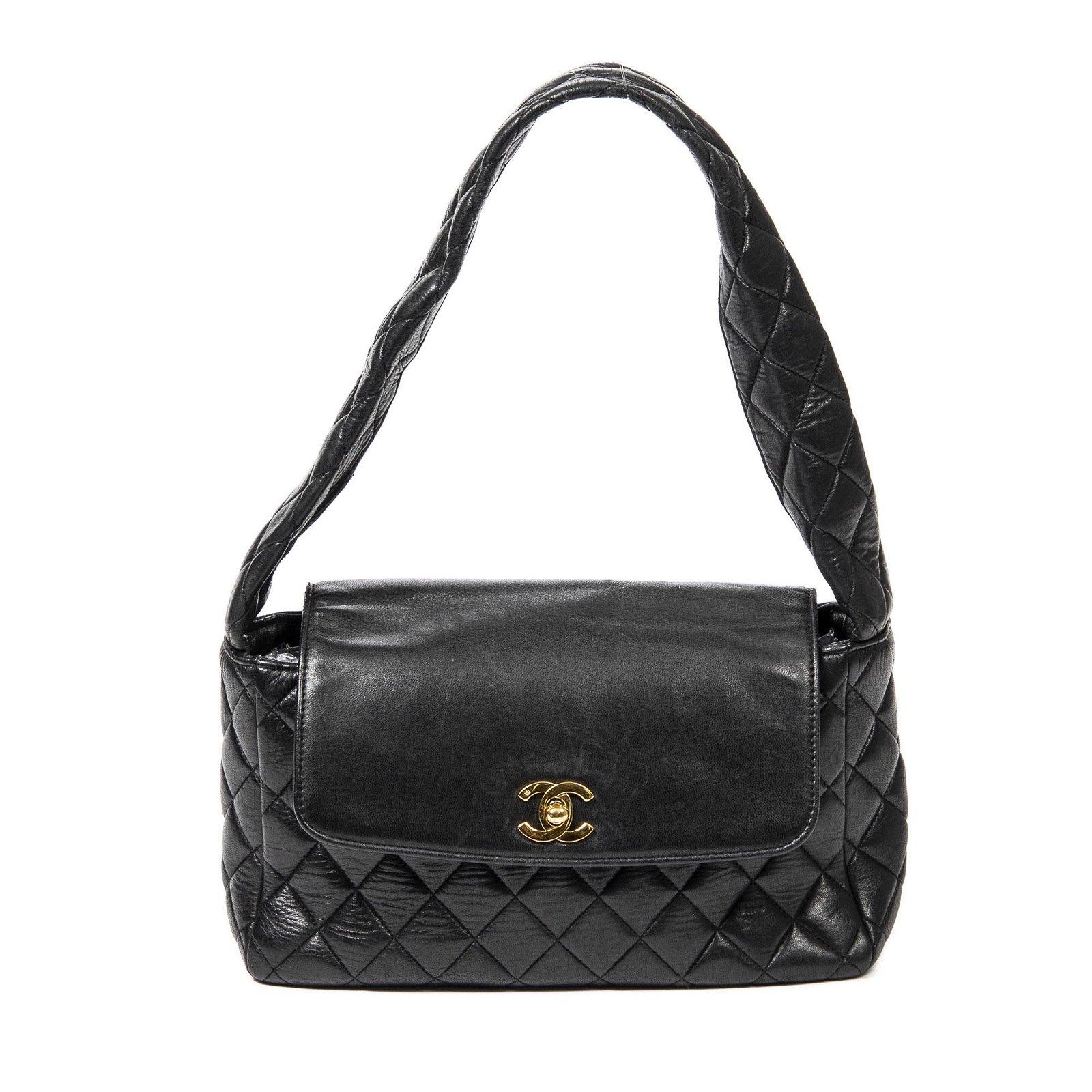 Chanel Calf Leather Rectangular Flap Handbag