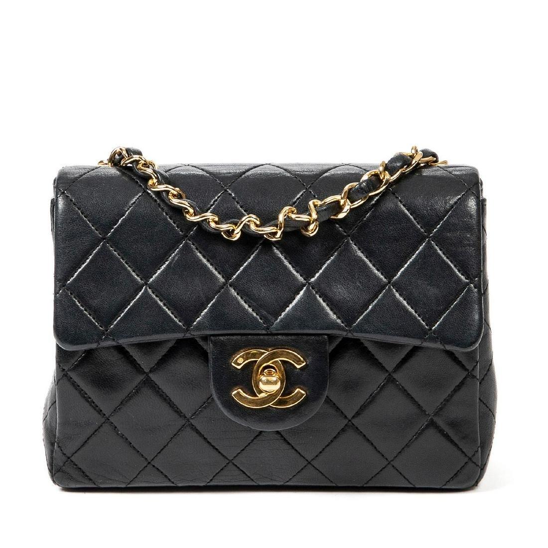 Chanel Calf Leather Mini Single Flap 17