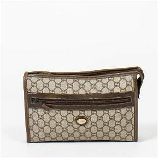 Gucci Monogrammed Canvas Gucci Plus Clutch Bag
