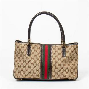 Gucci Monogrammed Canvas Tote