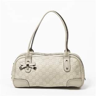 Gucci Guccissma Leather Princy Boston Bag