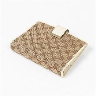 Gucci Monogrammed Canvas Diary Agenda