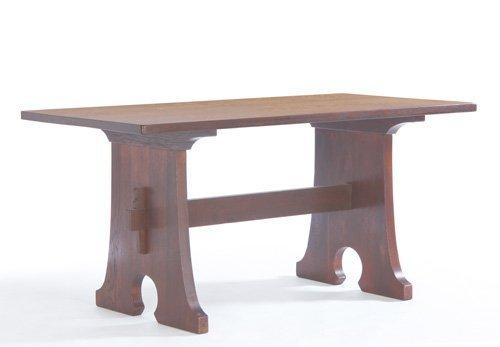 12: L. & J.G. STICKLEY Mousehole trestle table, its low