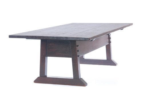 16: GUSTAV STICKLEY Director's table with a large overh