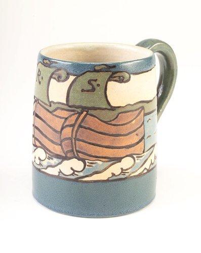 2: SATURDAY EVENING GIRLS Fine, large mug decorated in