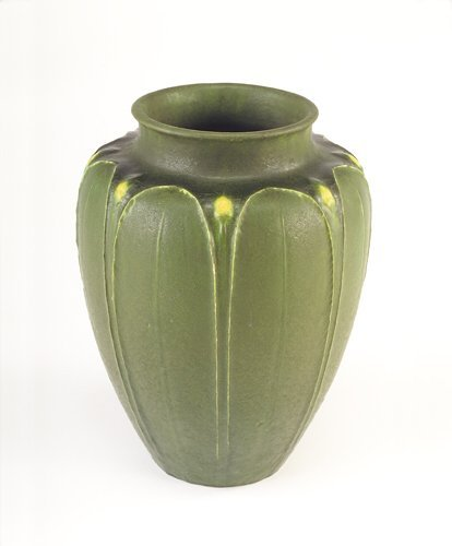 6: GRUEBY Fine and large flaring vase with collar rim d