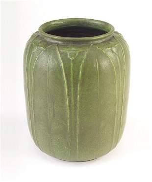 GRUEBY Large and rare barrel-shaped vase by Wilhemi