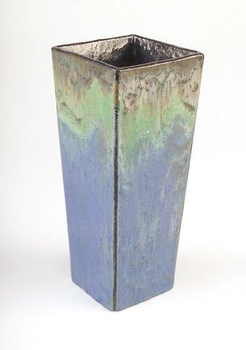 17: FULPER/PRANG Very fine four-sided flaring vase in a
