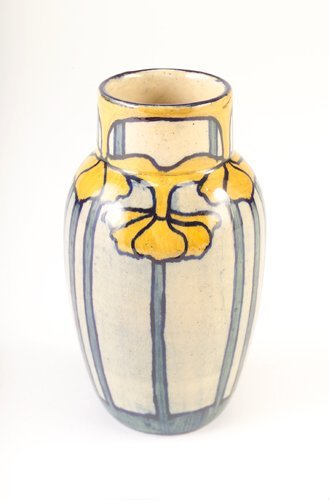 21: NEWCOMB COLLEGE Early bulbous vase painted by Sara