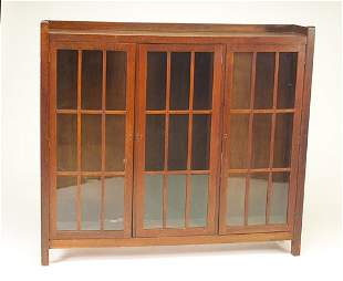 LIFETIME Three-door bookcase with nine panes per d