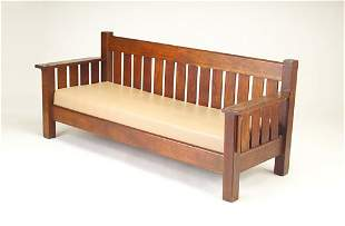 J.M. YOUNG Drop-arm settle with slats all around,