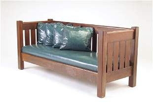 J.M. YOUNG Even-arm settle with chamfered posts, d
