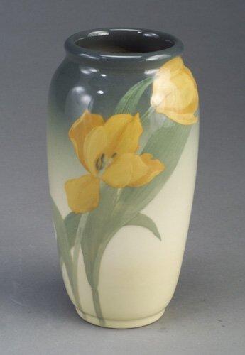 24: Fine ROOKWOOD Iris Glaze vase painted by
