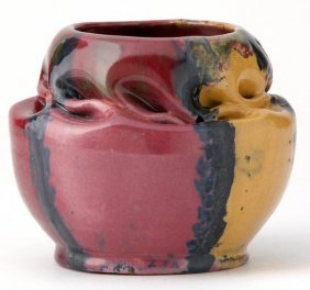 1: GEORGE OHR Vase with deep in-body twist