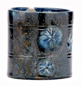 GEORGE OHR Beaker Incised With A Branch Of Flowers