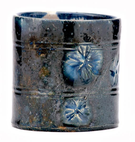 8: GEORGE OHR Beaker incised with a branch of flowers