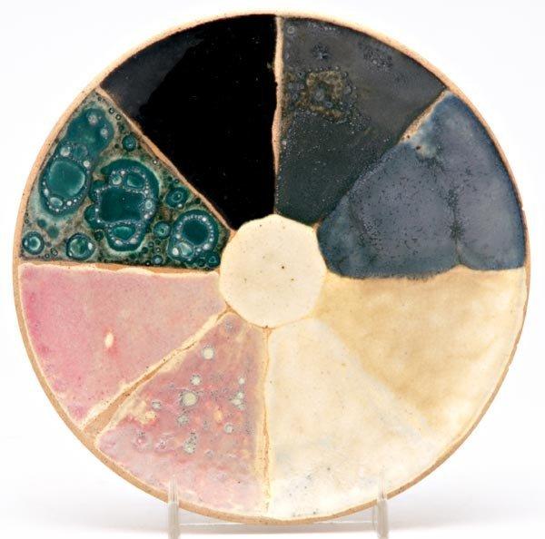 18: CHELSEA KERAMIC ART WORKS Experimental glaze plate