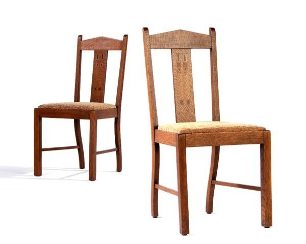 504: SHOP OF THE CRAFTERS (Attr.) Two side chairs with