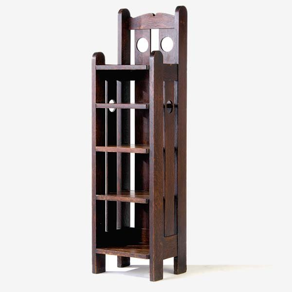513: STICKLEY BROTHERS Magazine stand with circular cut