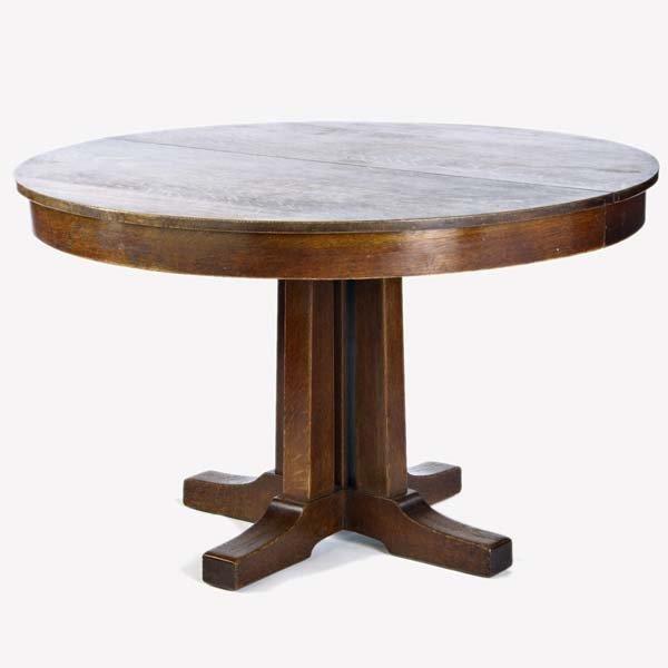 516: L. & J.G. STICKLEY Five-post pedestal dining table