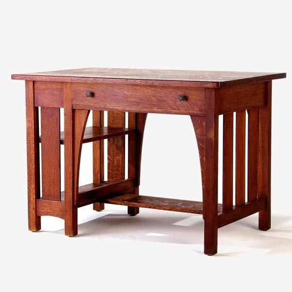 520: LIMBERT Single-drawer desk (no. 105) with slatted