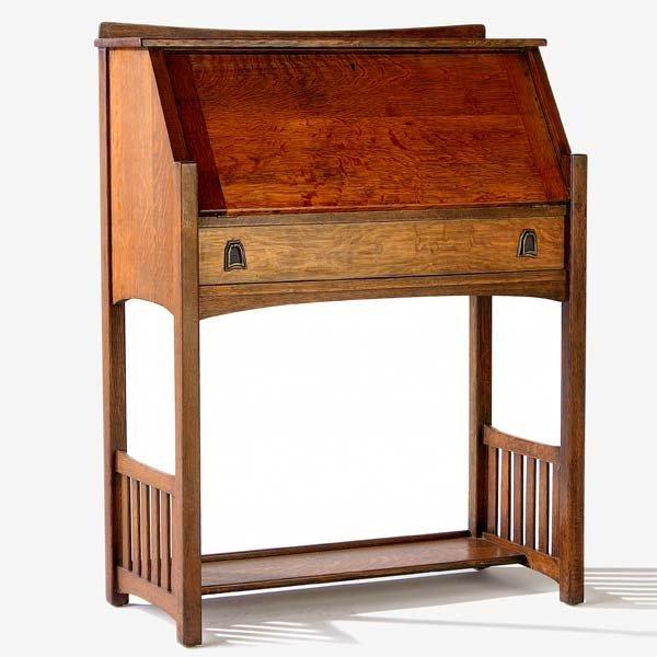 521: LIFETIME Puritan Line drop-front desk with slatted