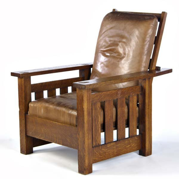 523: LIFETIME Morris chair with drop-in spring seat, re