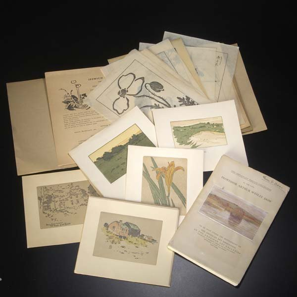 891: ARTHUR WESLEY DOW Three sets of Ipswich Prints and