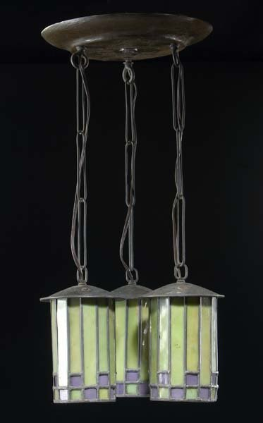 5: ROYCROFT Ceiling fixture designed by Dard Hunter wit