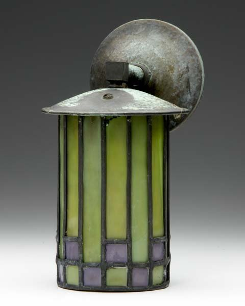 6: ROYCROFT Wall sconce designed by Dard Hunter with cy