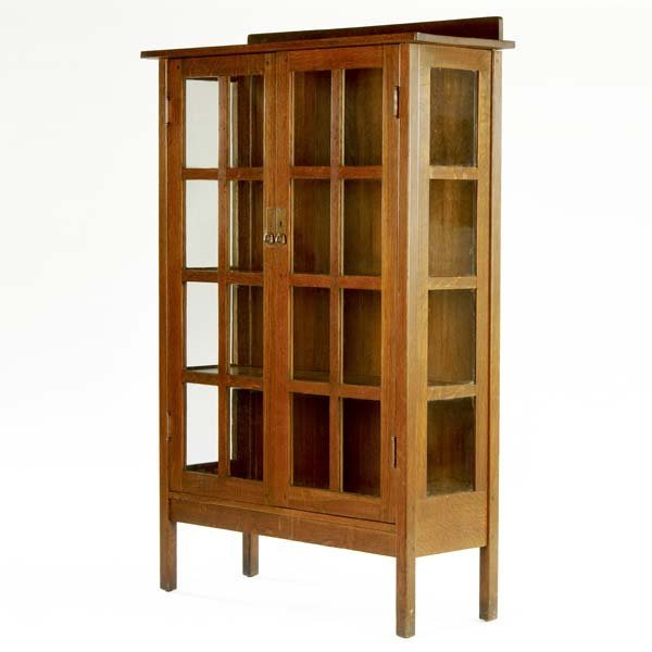 501: L. AND J.G. STICKLEY Two-door china cabinet with f