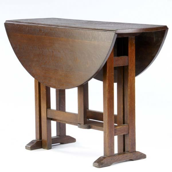 505: L. AND J.G. STICKLEY Gate-leg table (no. 553) with