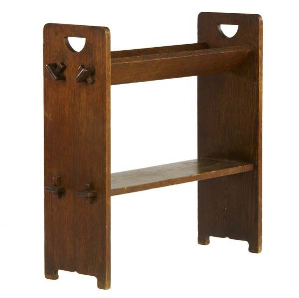 506: GUSTAV STICKLEY V-trough magazine stand (no. 74) w