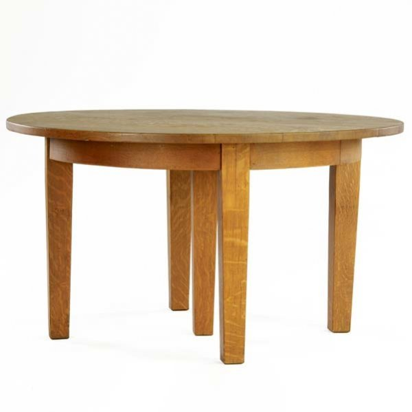 508: GUSTAV STICKLEY Five-legged dining table (no. 632)