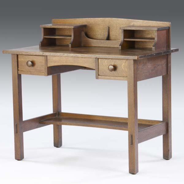 514: L. AND J.G. STICKLEY Postcard desk (no. 602) with