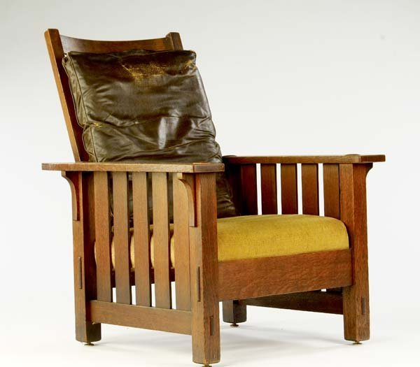 516: L. AND J.G. STICKLEY Fixed-back Morris chair with