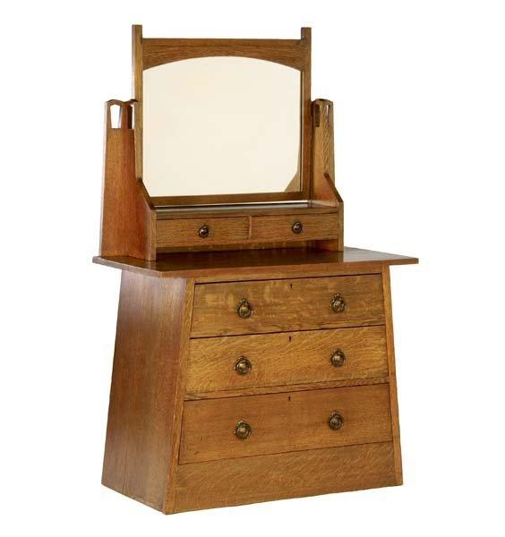 517B: WYBURD (Attr.) Dresser with mirror and two small