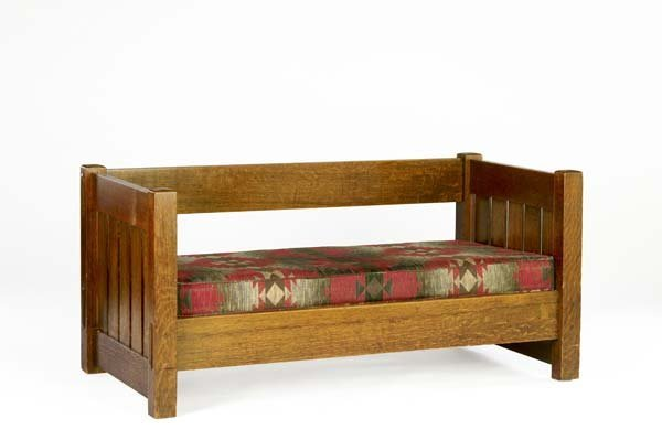 517F: GUSTAV STICKLEY Even-arm settle with wide board b