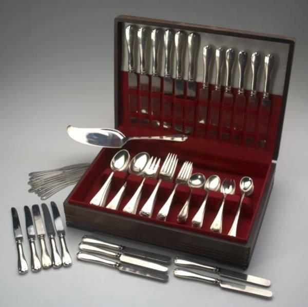 3: TIFFANY & CO. Partial silver flatware service for 8