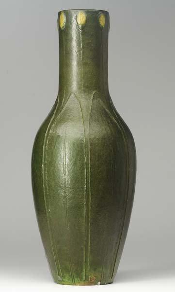 12: GRUEBY Massive vase with full-height leaves